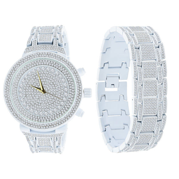 OG ICED OUT WHITE STORM TROOPER WATCH