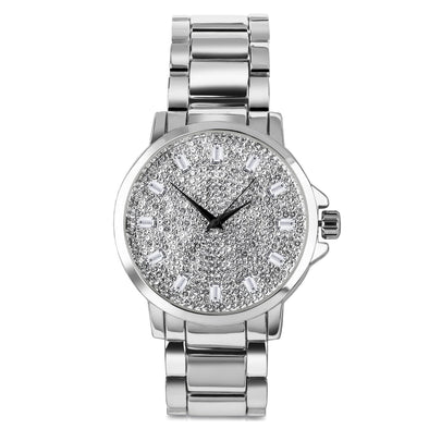 ICED OUT FACE WATCH IN WHITE GOLD