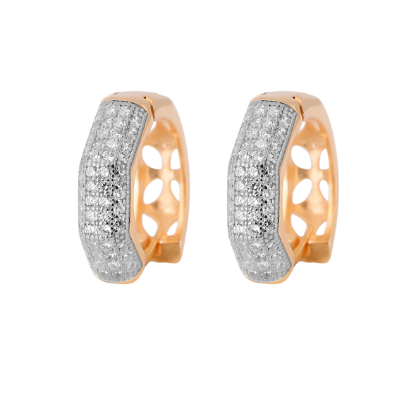 ICED OUT SQUARE HOOP EARRINGS