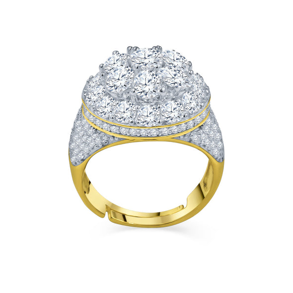 ROYAL ICED YELLOW GOLD RING