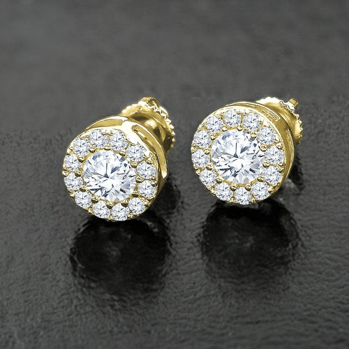 ROUND CUT DIAMOND TIMELESS STUD EARRINGS