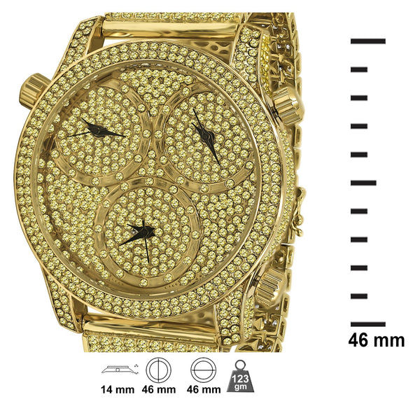 CANARY GOLD WORLDWIDE ICED WATCH