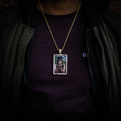 THE PORTRAIT // RECTANGULAR PHOTO PENDANT