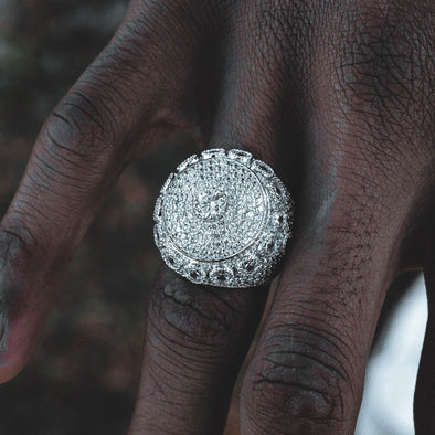 ULTRA ICED WHITE GOLD RING