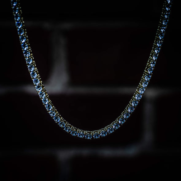3MM ROUND CUT TENNIS CHAIN IN YELLOW GOLD