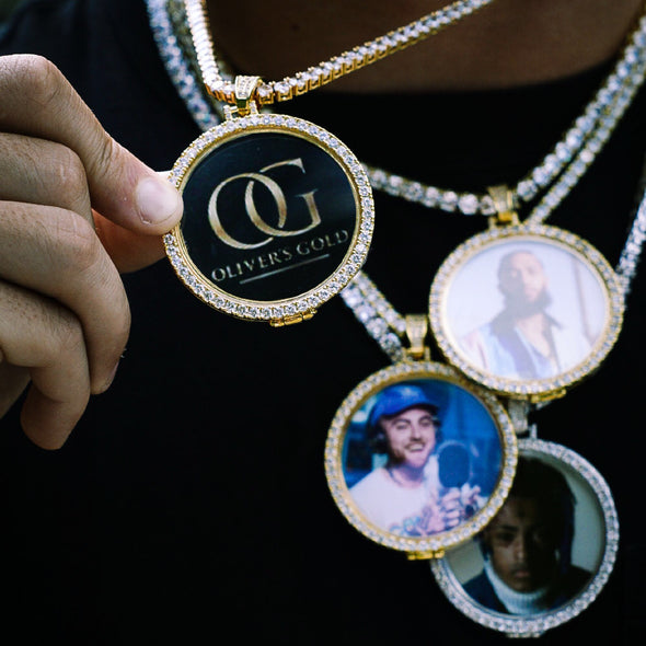 LARGE CUSTOM PHOTO MEDALLION + CHAIN