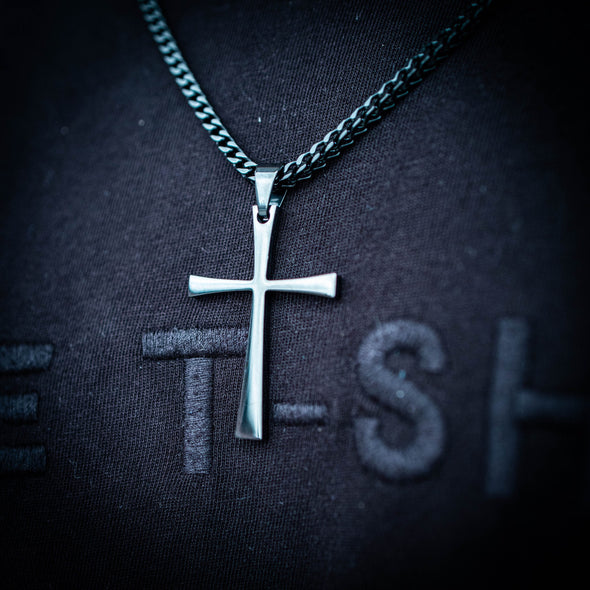 SIMPLE CROSS + 3MM FRANCO CHAIN