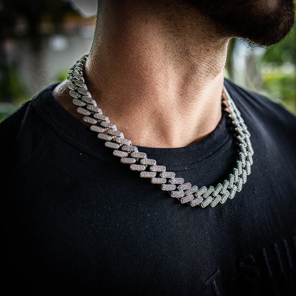 15MM OG LINK CUBAN CHAIN IN WHITE GOLD