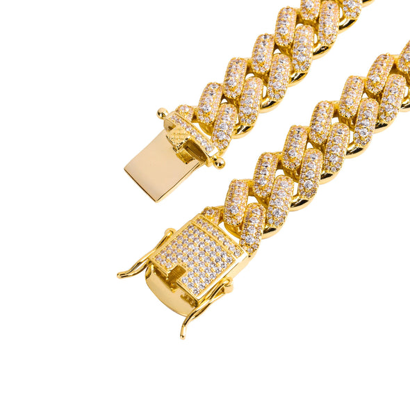 13MM ICED CUBAN LINK CHAIN IN YELLOW GOLD // CULTURE SHIFT