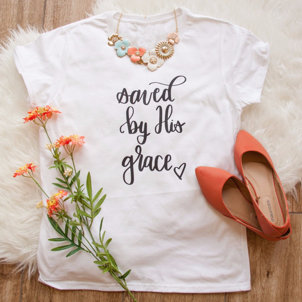 'Saved by His Grace' T-Shirt