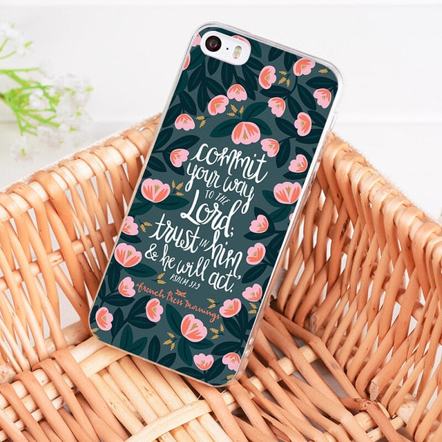 Commit Your Way To The Lord - Christian Phone Case
