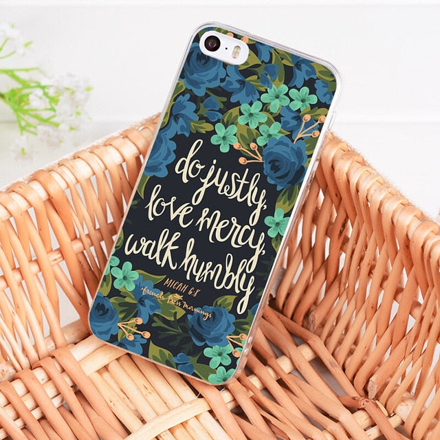 Do Justly Love Mercy Walk Humbly - Christian Phone Case