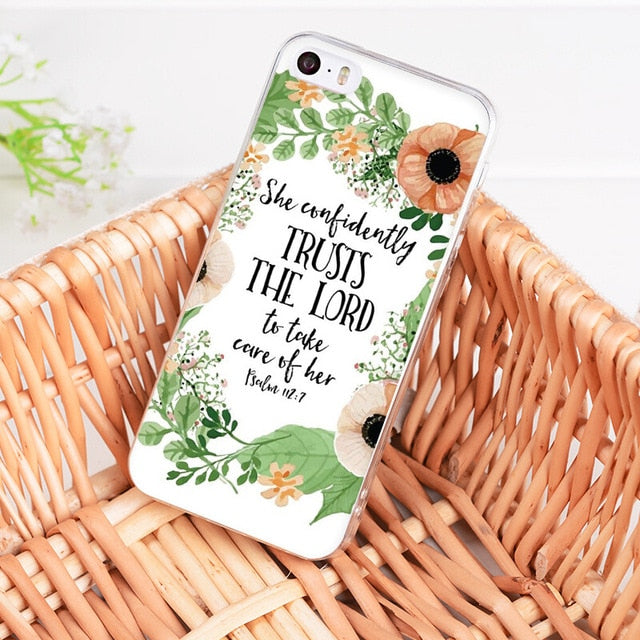 She Confidently Trusts The Lord - Christian Phone Case