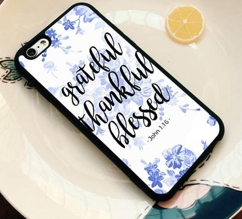 Grateful Thankful Blessed - Christian Phone Case