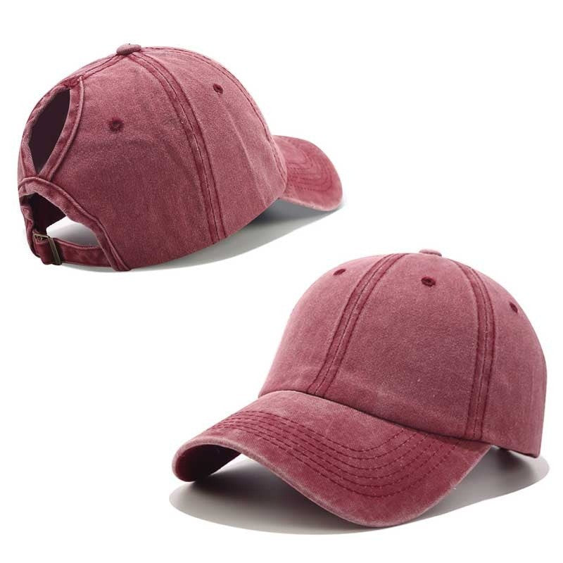 Cotton Ponytail Baseball Cap