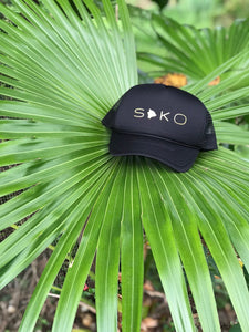 Soko (South Kona) Big Island Black Trucker Hat