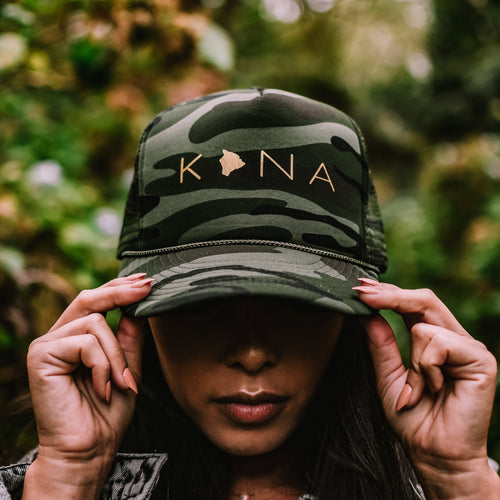 Kona Big Island Camo Trucker Hat