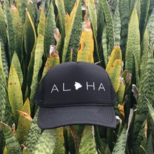 Load image into Gallery viewer, Aloha Big Island Black Trucker Hat