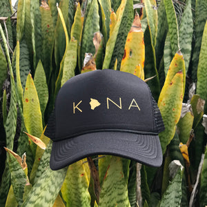 Kona Big Island Black Trucker Hat