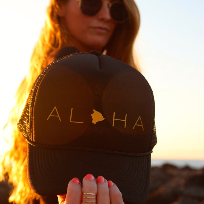 Aloha Big Island Trucker Hat