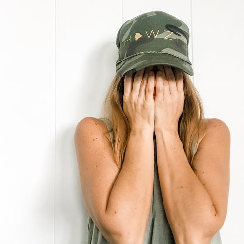 Howzit Big Island Camo Trucker Hat