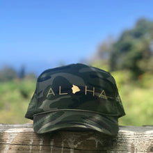 Load image into Gallery viewer, Aloha Big Island Camo Trucker Hat