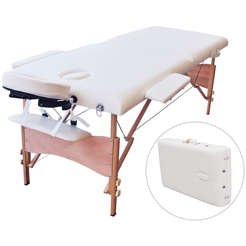 "Costway 84""l Portable Massage Table Facial SPA Bed Tattoo W/free Carry Case (White)"