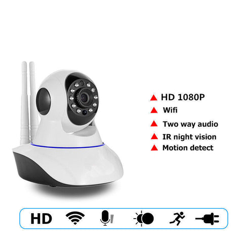 355° Wifi 720P PTZ IP Camera IR-Cut Fit Android IOS w/ Motion detection Alarm