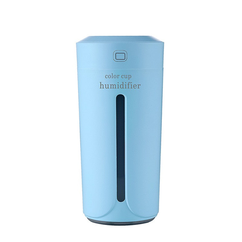 230ml Mini Air Humidifier USB Ultrasonic Humidifier Car Aroma Diffuser Electric Essential Oil Diffuser Cup 7 Color LED Lights
