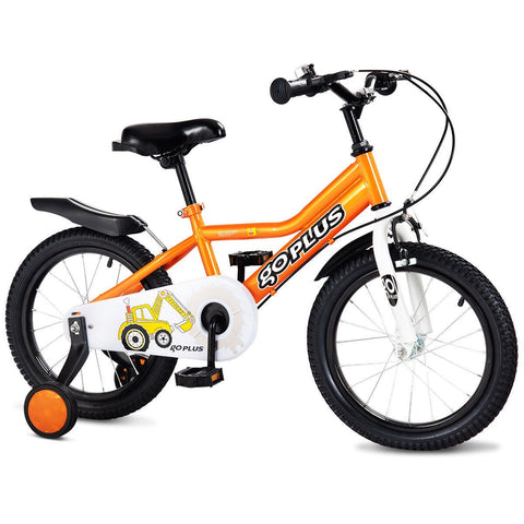 Costway 16'' Children Kids Bike Boy Girl Bicycle Training Wheels Toddler Ride New