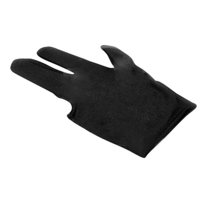 Spandex Snooker Billiard Glove Pool Left Hand Open Three Finger Black