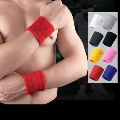 Cotton Sweat Sports Basketball Wristband  Badminton Tennis GYM Sports  Exercise