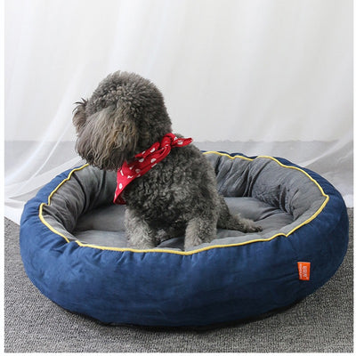 Round Type Nonslip Dog bed Breathable Soft Pet Bed Winter Warm Thickened Comfortable Dog Mat Support Drop shipping