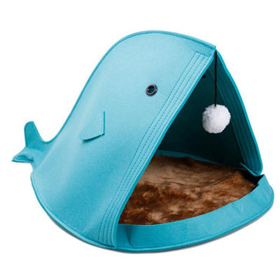 Portable Shark Mouth Dog Bed Breathable Lightweight Warm Pet Bed Removable All Seasons Felt Cat Mat Drop shipping