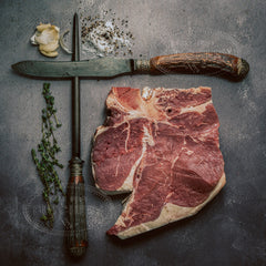 T-bone steak or porterhouse