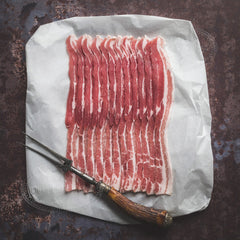 Unsmoked streaky bacon (200g packs)