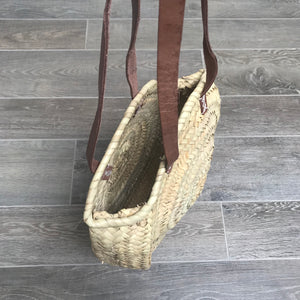 Long Handled Round Moroccan Basket
