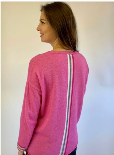Sophia Cashmere Blend Jumper in Hot Pink