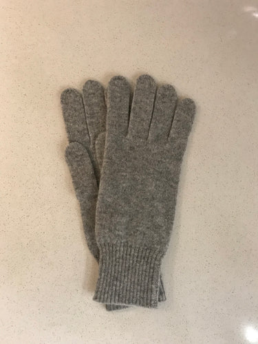 100% Pure Cashmere Gloves in Light Grey