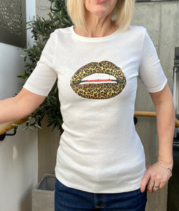 Leopard Lips Tee Shirt