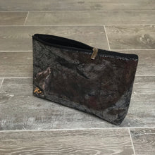 Load image into Gallery viewer, Metallic Black Clutch Bag