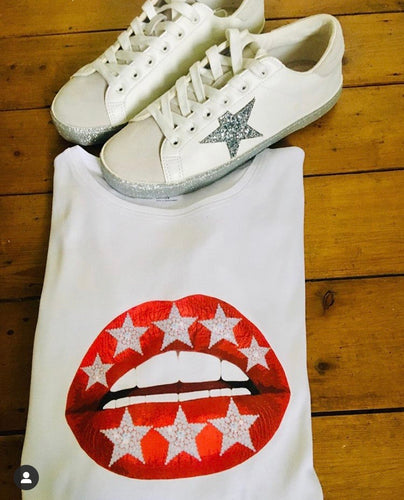 Red Star Lips Tee Shirt