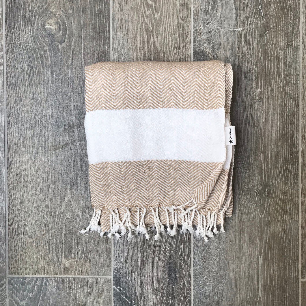 Pure Cotton Hammam/Fouta/Throw in Natural