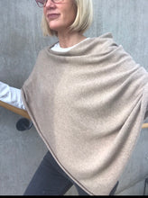 Load image into Gallery viewer, 100% Pure Cashmere Boat Neck Poncho in Mink