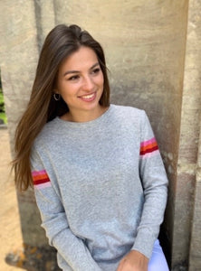 Lindy Cashmere Blend Jumper Silver/Multi