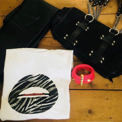 Zebra Lips Tee Shirt
