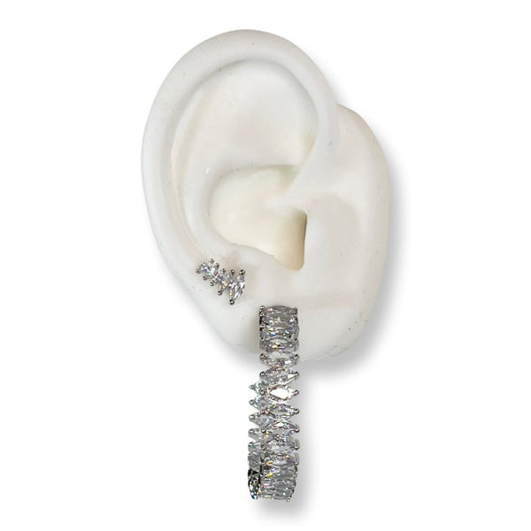 WTF asymmetrical earrings in yellow gold filled