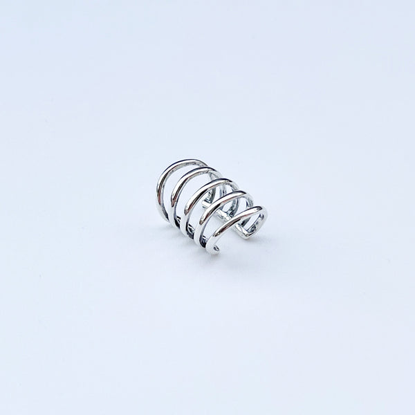 Sterling silver cage ear cuff