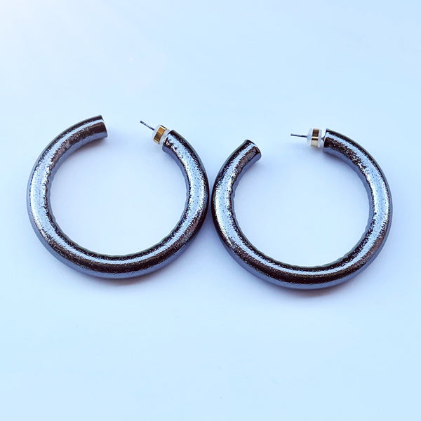 Gunmetal gray halo hoops