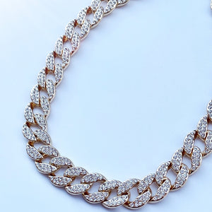 Gold filled miami necklace